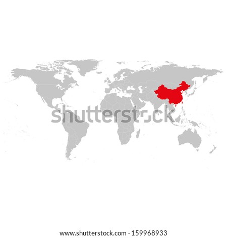 China World Map background vector - stock vector