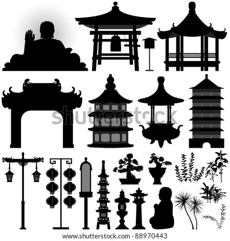 Chinese Temple Vector Chinese Asian Temple Building