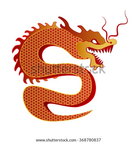 Chinese Dragon Traditional Culture. Vector illustration. - stock vector