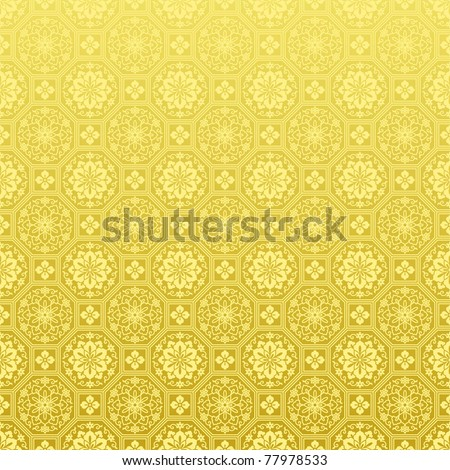 Chinese golden background - stock vector