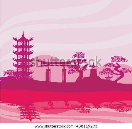 Chinese landscape - stock vector