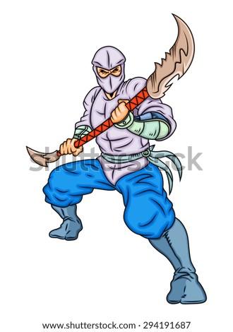 Chinese Ninja Fighter - stock vector
