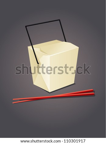 Chinese Take Out - stock vector