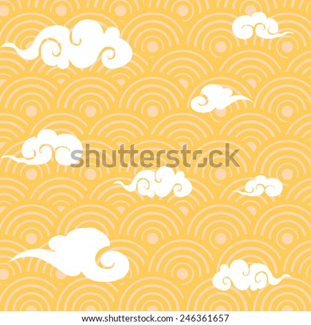 chinese traditional clouds pattern - stock vector