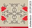 chinese vintage pattern - stock vector