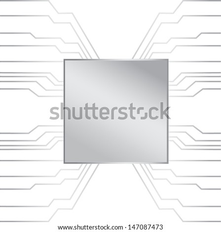 Chip track - stock vector