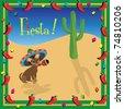 Chiwawa's Mexican Fiesta Party Invitation - stock vector