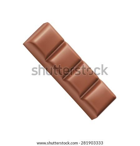 Chocolate bar four pieces vector - stock vector