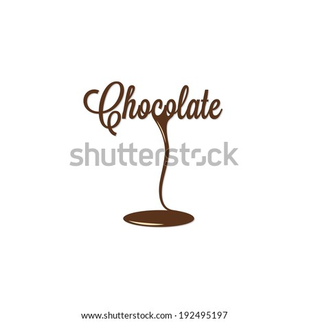 chocolate isolated sign - stock vector