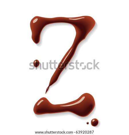 Chocolate letter - stock vector