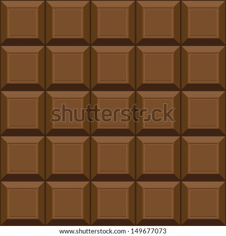 Chocolate seamless texture. Can be used for wallpaper, pattern fills, web page background, surface textures. - stock vector