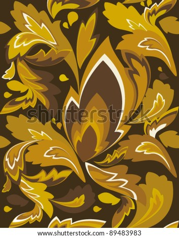 Chocolate Seamless Wallpaper, Vector Background - stock vector