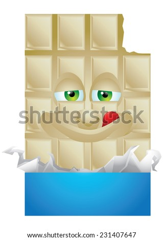 Chocolate vanilla wrapping cartoon character smiling isolated - stock vector