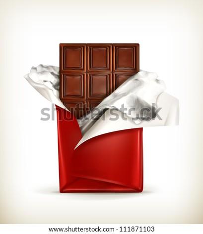 Chocolate, vector - stock vector
