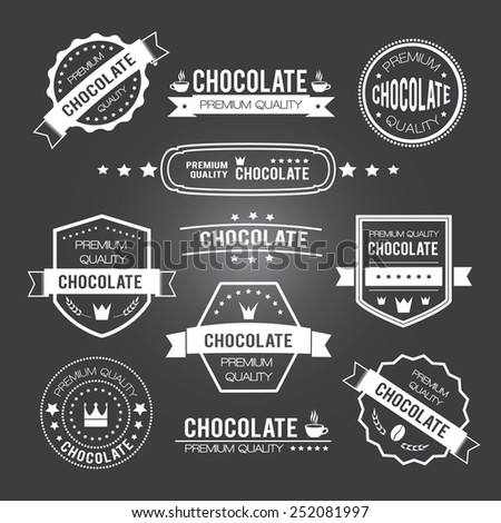 Chocolate vintage retro design logos and labels. Vector illustration - stock vector