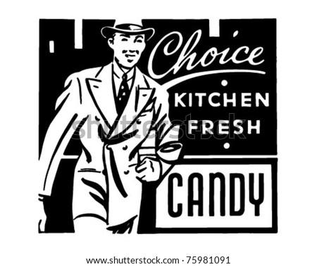 Choice Candy - Retro Ad Art Banner - stock vector