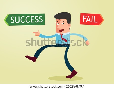 choose your way to become a successful businessman - stock vector