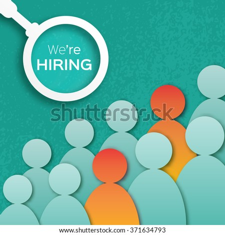 Choosing the talented person for hiring.HR job seeking concepts.The choice of the best suited employee - stock vector