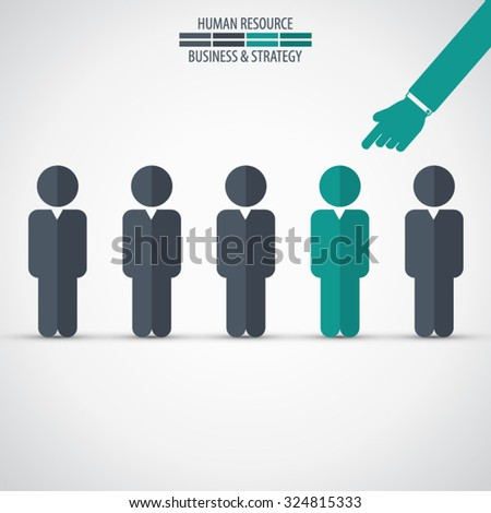 Chosen one - human resources concept - stock vector
