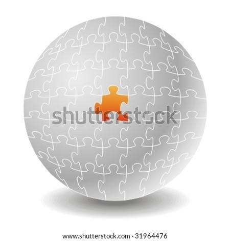 Chosen puzzle. Concepts. - stock vector