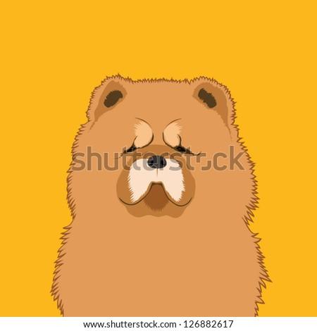 Chow chow, The buddy dog - stock vector