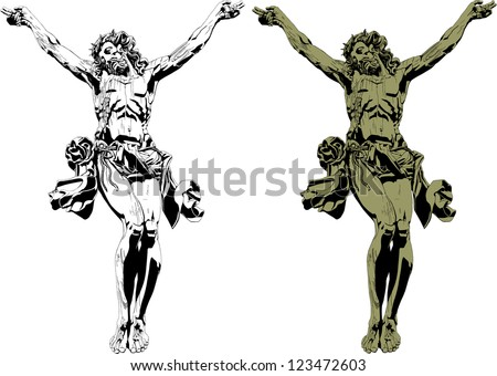christ gothic - stock vector