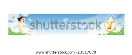 Christian Concept Template - stock vector