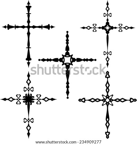 Christian Cross Collection  - stock vector