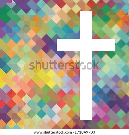 Christianity cross religion vector abstract background concept illustration - stock vector