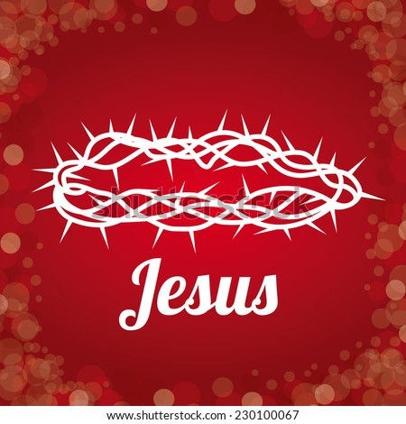 Christianity  design over red background, vector illustration - stock vector