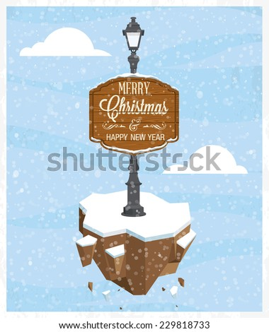Christmas abstract greeting card design. Vector illustration - stock vector