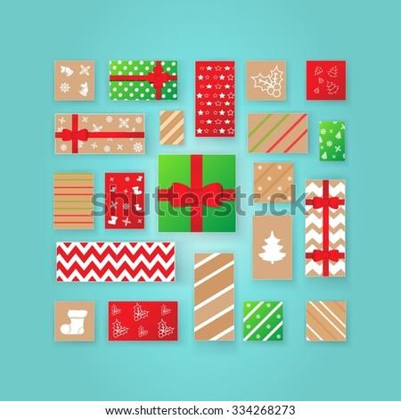Christmas Advent calendar. - stock vector