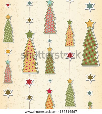 Christmas and New Year pattern - stock vector