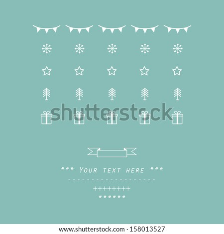 Christmas and New Year's vector pattern  - stock vector