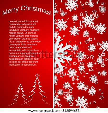Christmas and New Year vector background. Greeting or invitation card, booklet, poster template. - stock vector