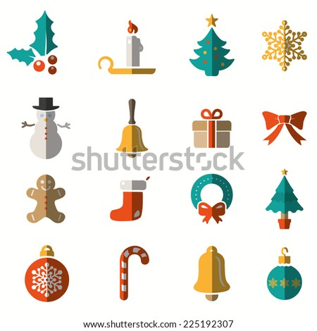 Christmas and Winter icons collection - vector - stock vector