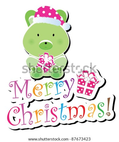 Christmas animal icon-(bunny version),more animals are available - stock vector