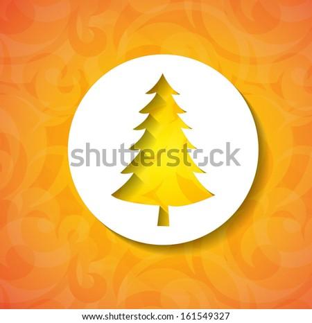 Christmas applique background. Vector illustration - stock vector
