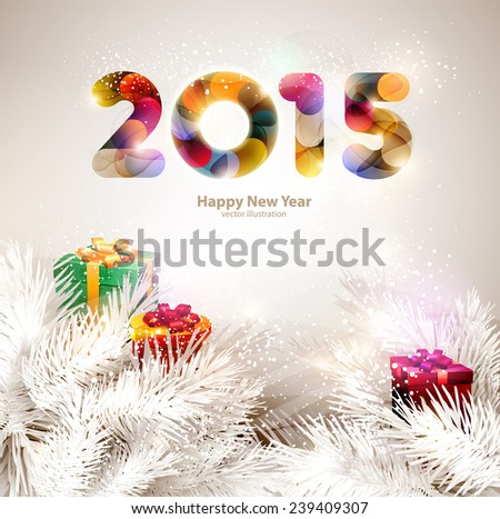 Christmas background 2015 - stock vector