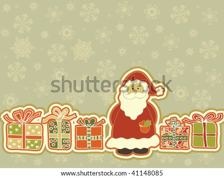 Christmas background. Easy to edit vector image. - stock vector