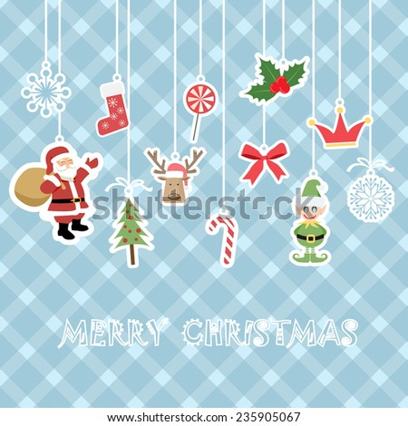 christmas background for kid - stock vector