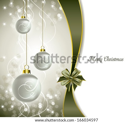Christmas Background. Holiday Design. - stock vector