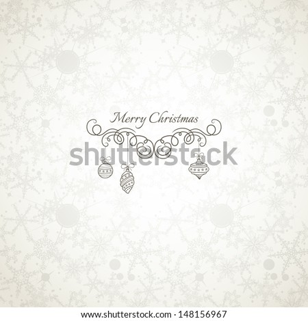 Christmas background in retro style - stock vector