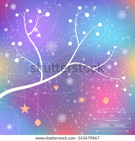Christmas  background in vector - stock vector