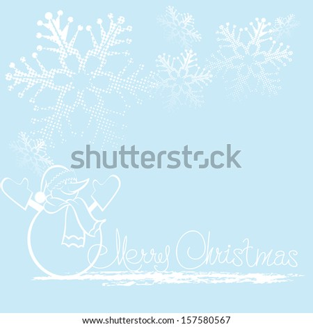 Christmas Background. Merry Christmas lettering, vector illustration for your design. - stock vector
