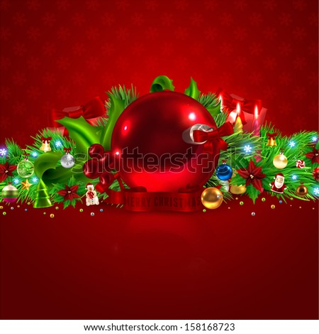 Christmas Background, Vector - stock vector
