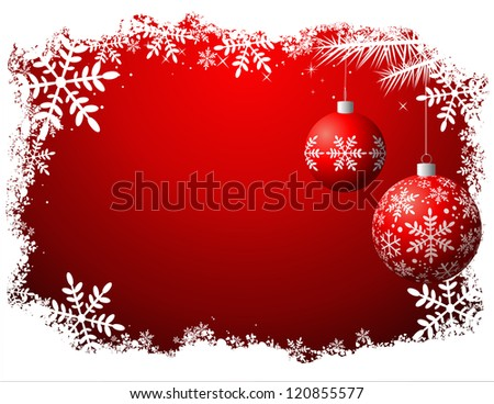 Christmas background, vector file - No transparency - stock vector