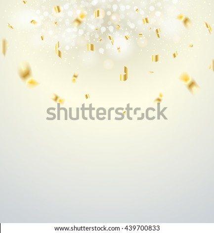 christmas background. Vector illustration. Golden Holiday Abstract Glitter Defocused Background With Blinking Stars. Blurred Bokeh - stock vector