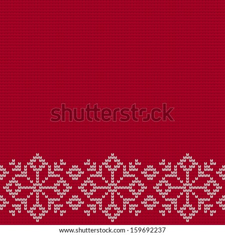 Christmas background. Vector snowflake jumper pattern  - stock vector