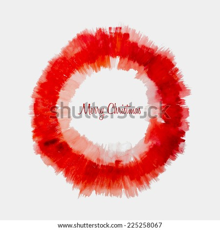 Christmas Background - Vector Watercolor Ring Stain. - stock vector